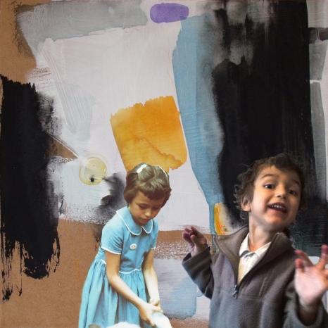 Série «Générations». Ma soeur Jojo et son petit fils Lou. 5 ans tous les deux.