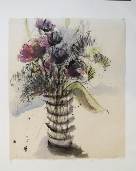 aquarelle sur papier, vendue
